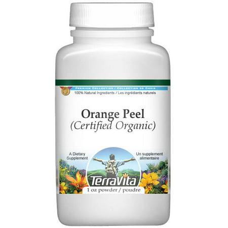 Grated Orange Peel - Orange Peel (Certified Organic) Powder (1 oz, ZIN: 518648)