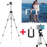 WALFRONT Flexible Portable Aluminum Tripod Stand With Bag For Canon Nikon DSLR Camera New