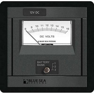 Blue Sea 1473 Dc Analog Voltmeter (Blue Sea Panel Dc Battery)