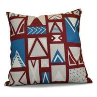 E by Design Jump For Joy Merry Susan Print Outdoor Pillow
