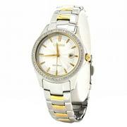 Citizen FE1144-69A Women's Eco Drive Silver Dial Two Tone Steel Watch & Bracelet Gift Set
