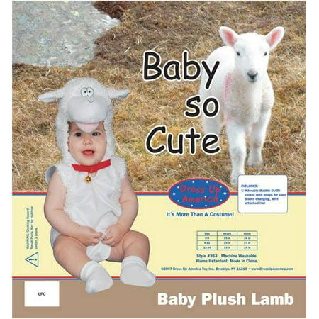 Baby Plush Lamb Costume Set - 6 - Lamb Toddler Costume