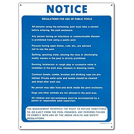 Poolmaster public pool regulations sign for residential - Residential swimming pool regulations ...