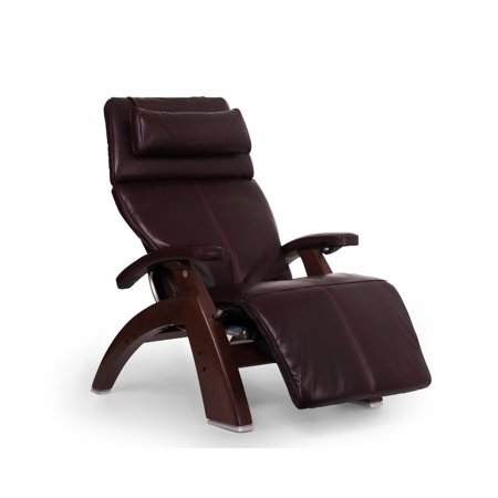 Human Touch Pc 610 Omni Motion Perfect Chair Series 2 Power Recline Chestnut Wood Base Zero Gravity Recliner   Burgundy Premium Leather