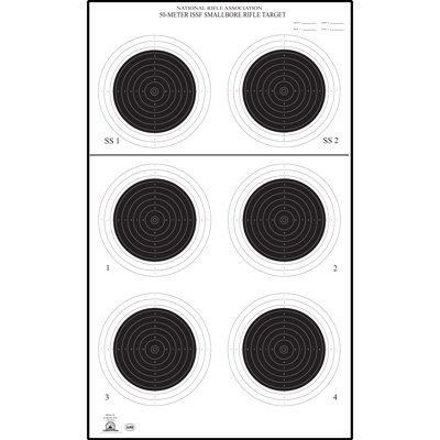 50 Pcs Of Official Nra Small Bore Rifle 50 Meter Uit Target  A 50  Printed On Official Nra Heavyweight   Tag   Paper  With Black Ink  Size  14   X 24