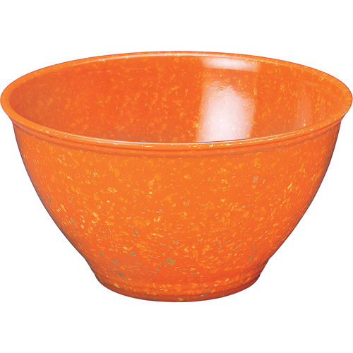 Rachael Ray 4 Quart Garbage Bowl Melamine Mixing Bowl Orange