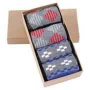 Casual Dress Socks, Elite Men's Fun Cotton Knit Pattern Crew Gift Socks,Groomsmen Gifts Socks Mens Wedding Socks 4 Pairs in Gift Box Christmas Thanksgiving Gift Socks Father's Day Gifts