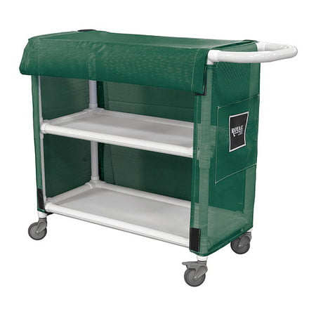"Royal Basket Truck G32-EEX-L2A-3ULN 32"" PVC Linen Cart, 2 Shelf"