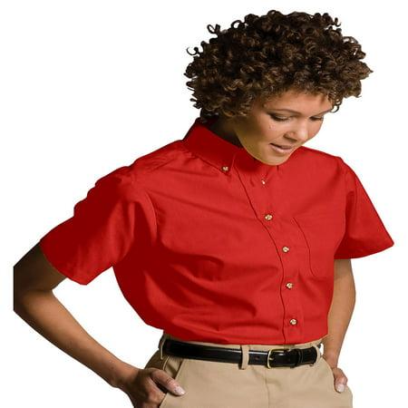 - Edwards Garment Women's Button Down Collar Poplin Shirt, Style 5230