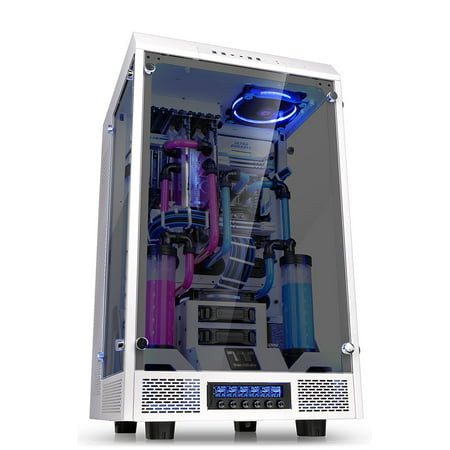 Notebook Chassis - Thermaltake The Tower 900 Snow White Full Super Tower Water Cooling Computer Chassis - CA-1H1-00F6WN-00