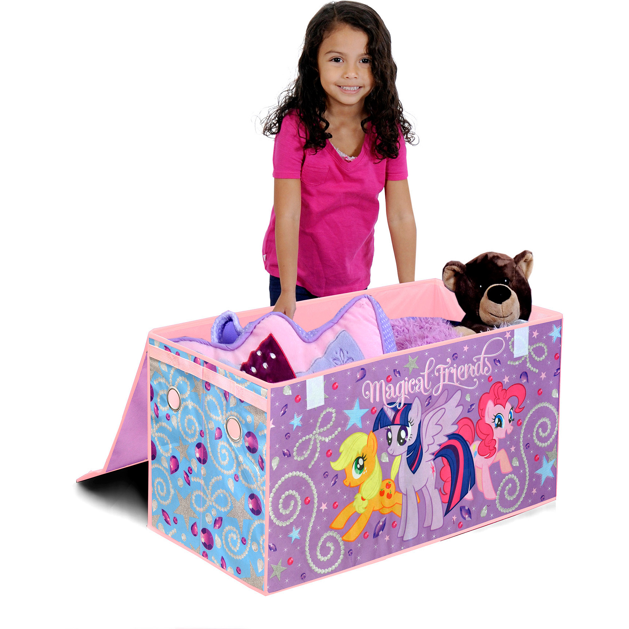 My Little Pony Oversized Soft Collapsible Storage Toy Trunk by Idea Nuova