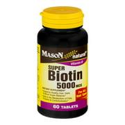 Mason Natural Super Biotin 5000 MCG - 60 CT