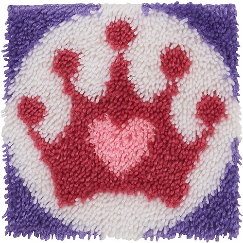 "Wonderart Latch Hook Kit, 12"" x 12"", Princess Crown"