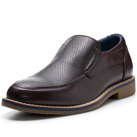 Alpine Swiss Carter Mens Slip On Loafers Snakeskin Dress Shoes Leather