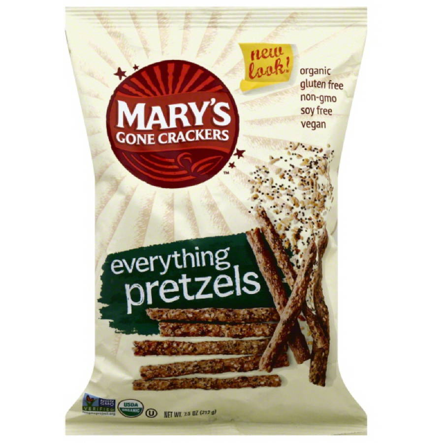 Mary's Gone Crackers Everything Pretzels, 7.5 oz, (Pack of 12)