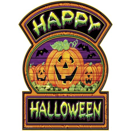 Happy Halloween Jack-O-Lantern Sign Halloween Decoration 12