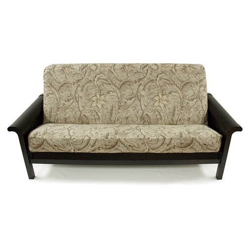 Easy Fit Floral Chenille Box Cushion Futon Slipcover