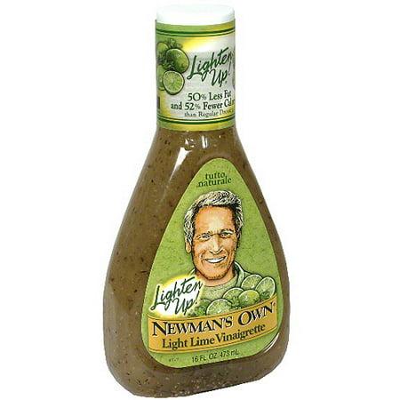 - Newman's Own Lighten Up Light Lime Vinaigrette, 16 oz (Pack of 6)