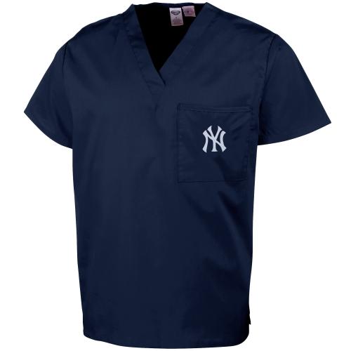 New York Yankees Unisex Scrub Top - Navy Blue