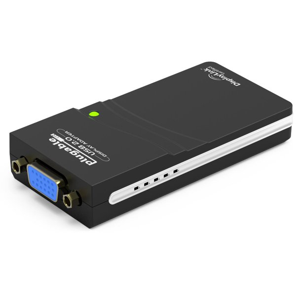 Plugable USB to VGA Video Graphics Adapter for Multiple Displays up to 1920x1080 (Supports Windows 10, 8.1,7, XP)