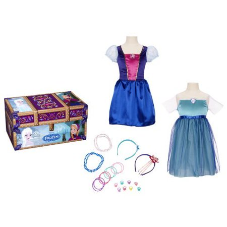 Disney Frozen - 23 Piece Dress Up Trunk with Accessories - Anna and Elsa