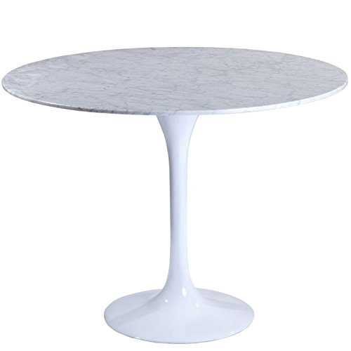 "Lexington LexMod 36"" Eero Saarinen Style Tulip Dining Table with White Marble Top"