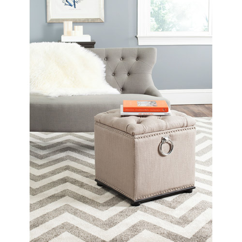 Safavieh Arturo Storage Ottoman with Silver Nail Heads