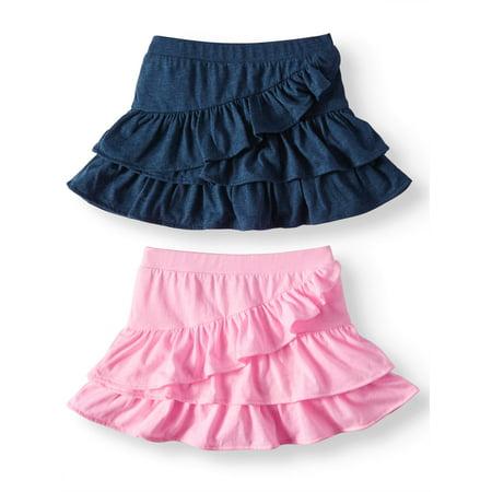 Garanimals Knit Ruffle Skorts, 2pc Multi-Pack (Toddler -