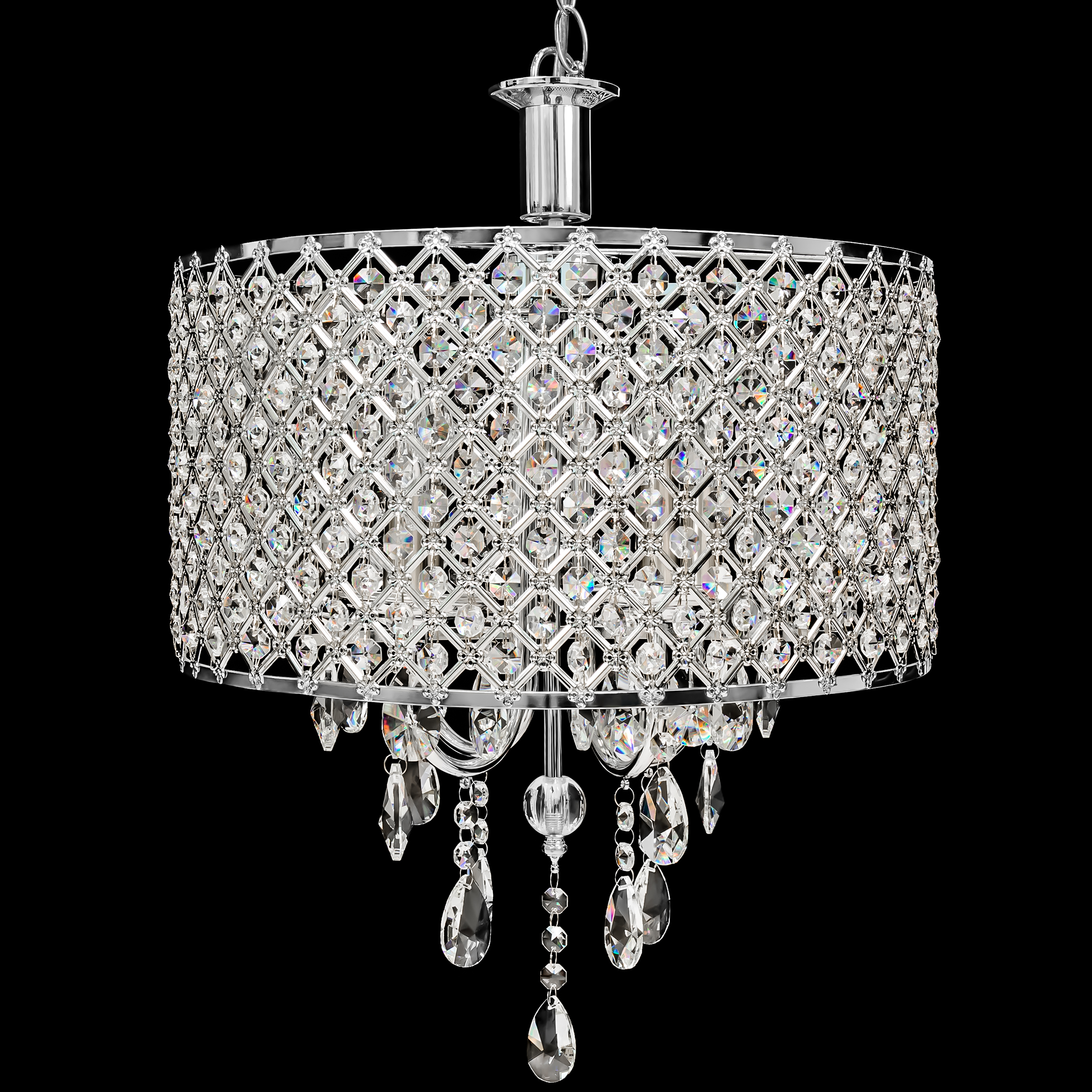 Best Choice Products 4 Pendant Dining Room Light Crystal Drop Modern Chandelier by Best Choice Products