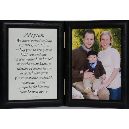 5X7 Adoption Poem Double Hinged Black Picture/Photo Frame ~ A Wonderful Keepsake Frame For The Adopting Family! (Black)
