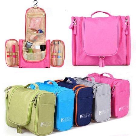Polyester Toiletry Wash Cosmetic Bag Makeup Storage Case Hanging Organizer Bag Carry