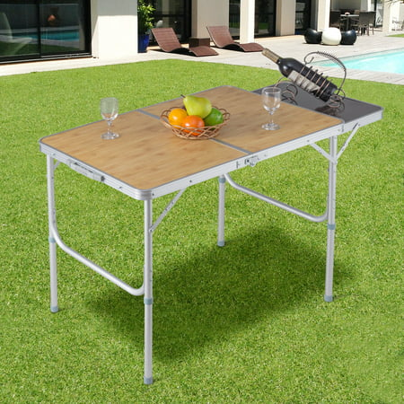 Costway Aluminum Folding Picnic Camping Table Lightweight Indoor Outdoor Garden Party - Indoor Camping Party