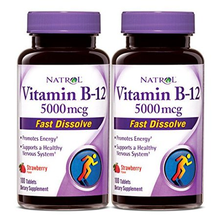VIT B12,5000MCG,FAST DSLV, 2/100 TAB, 1233022 By Natrol Ship from US