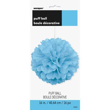 Tissue Paper Pom Pom, 16 in, Light Blue, 1ct