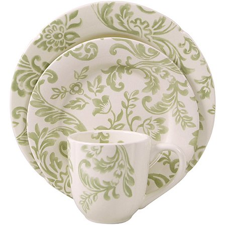 Better Homes And Gardens Floral Damask 16 Piece Dinnerware