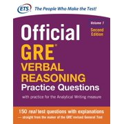 Official GRE Verbal Reasoning Practice Questions, Second Edition, Volume 1 (Paperback)