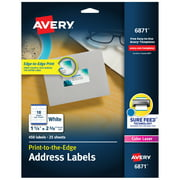 "Avery Address Labels, Sure Feed, 1-1/4"" x 2-3/8"", 450 Labels (6871)"