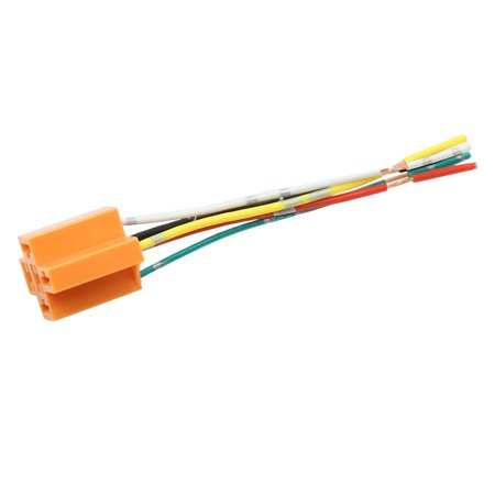 Car 5 Terminals Wiring Harness Relay Socket Connector DC 12V 40A Wire Harness Ends Termenal on