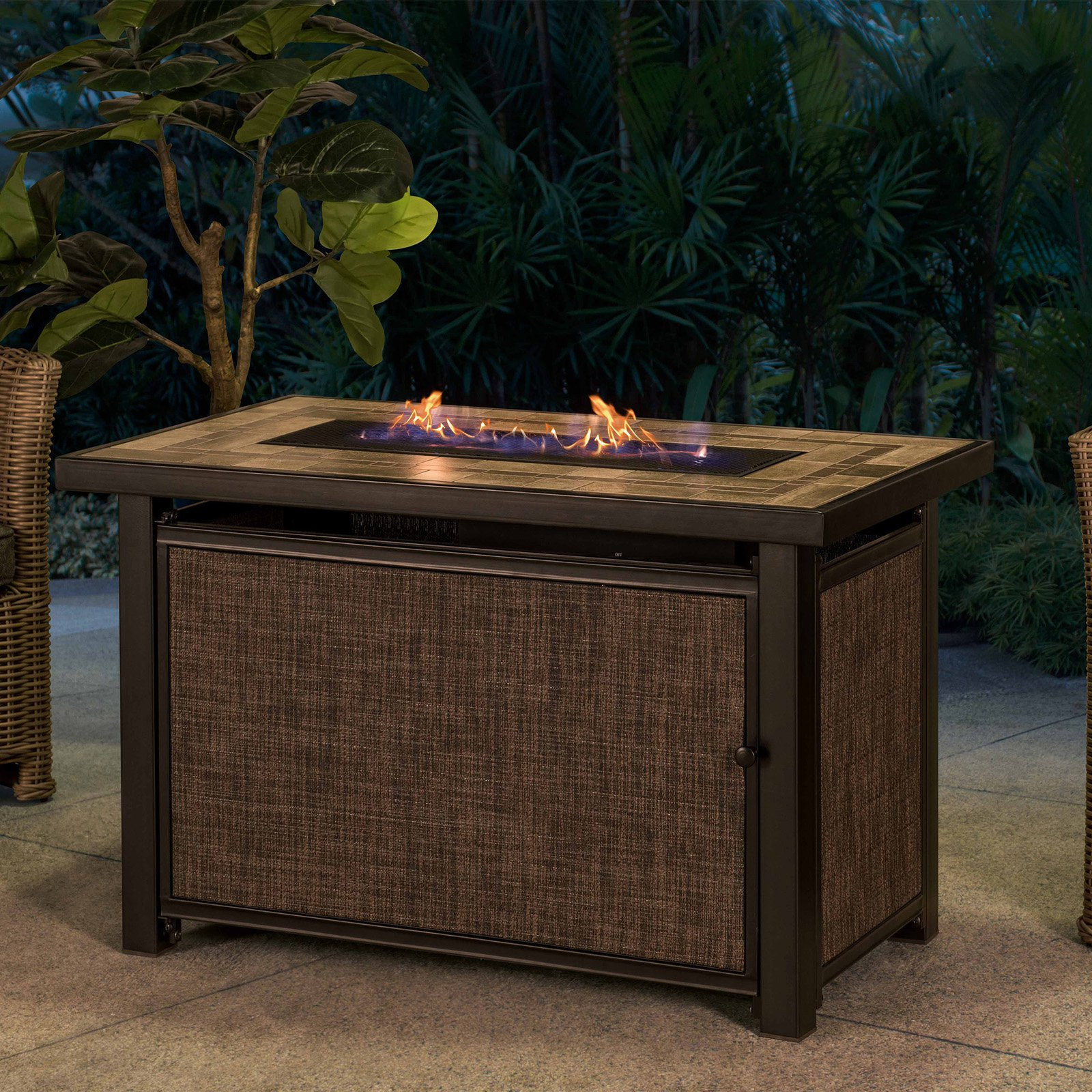 Hartnell Rectangular Lp Fire Pit Table Walmart Com Walmart Com