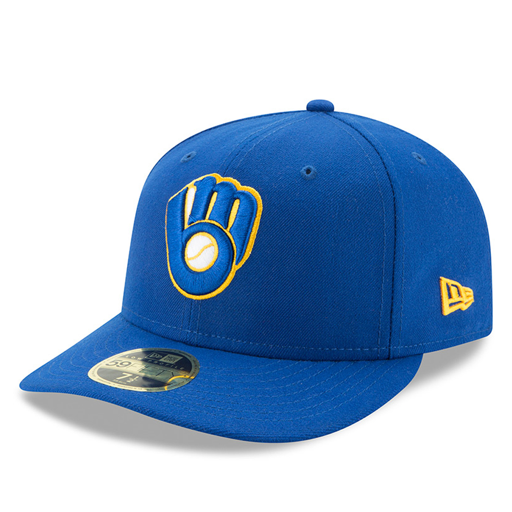Milwaukee Brewers New Era Alternate Authentic Collection On-Field Low Profile 59FIFTY Fitted Hat - Royal