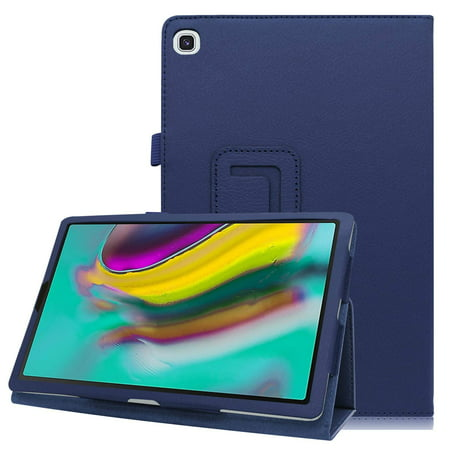 EpicGadget Case for Galaxy Tab A 8.0 Inch 2019 (SM-T290/SM-T295) - Premium PU Leather Folding Folio Stand Case Samsung Galaxy Tab A 8.0 SM-T290/T295 Released in 2019 (Navy Blue)