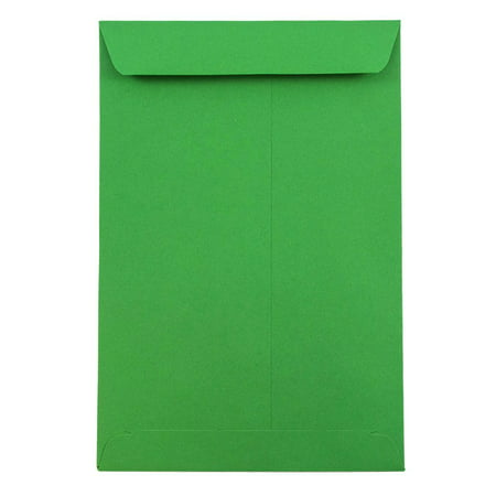 Discount Christmas Catalogs (JAM Paper 6 x 9 Open End Catalog Envelope, Brite Hue Christmas Green,)