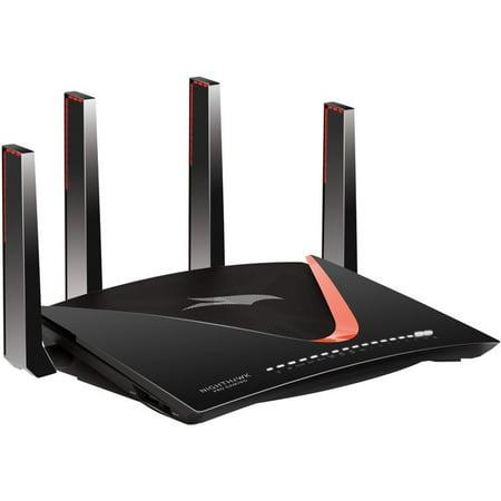 Netgear Nighthawk Pro Gaming XR700 IEEE 802.11ac Ethernet Wireless Router - 2.40 GHz ISM Band - 5 GHz UNII Band(4 x External) - 921.60 MB/s Wireless Speed - 6 x Network Port - 1 x Broadband Port - USB ()