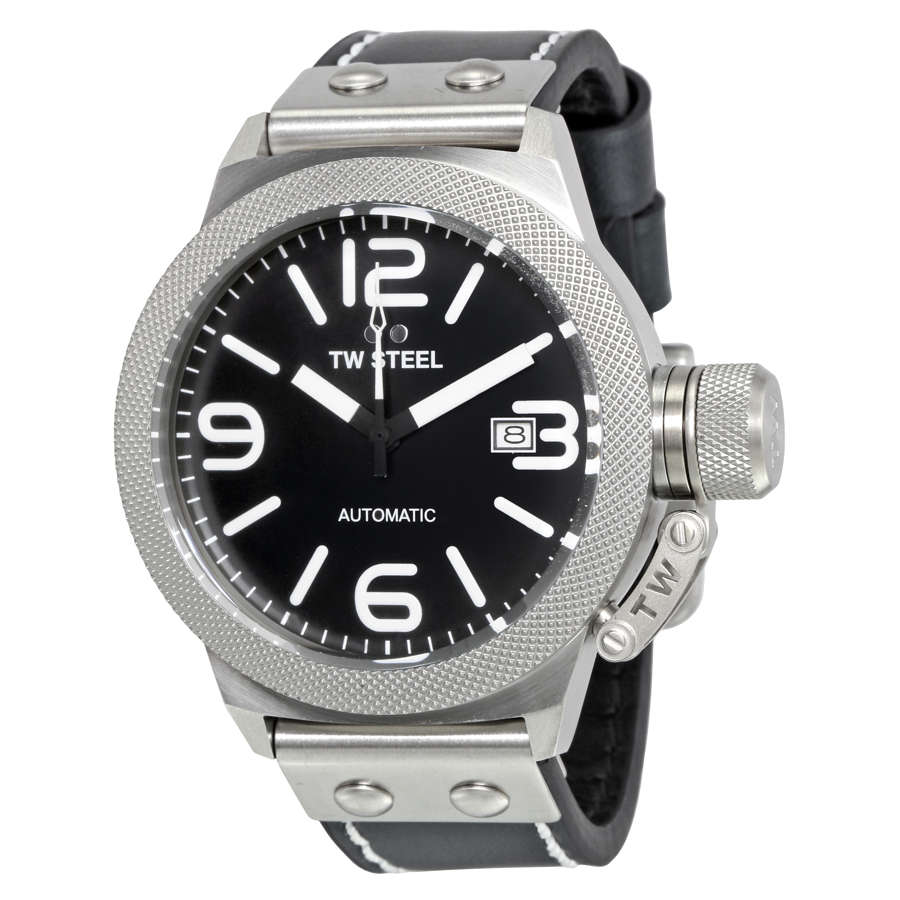 TW Steel Canteen Automatic Black Dial  Mens Watch CS5