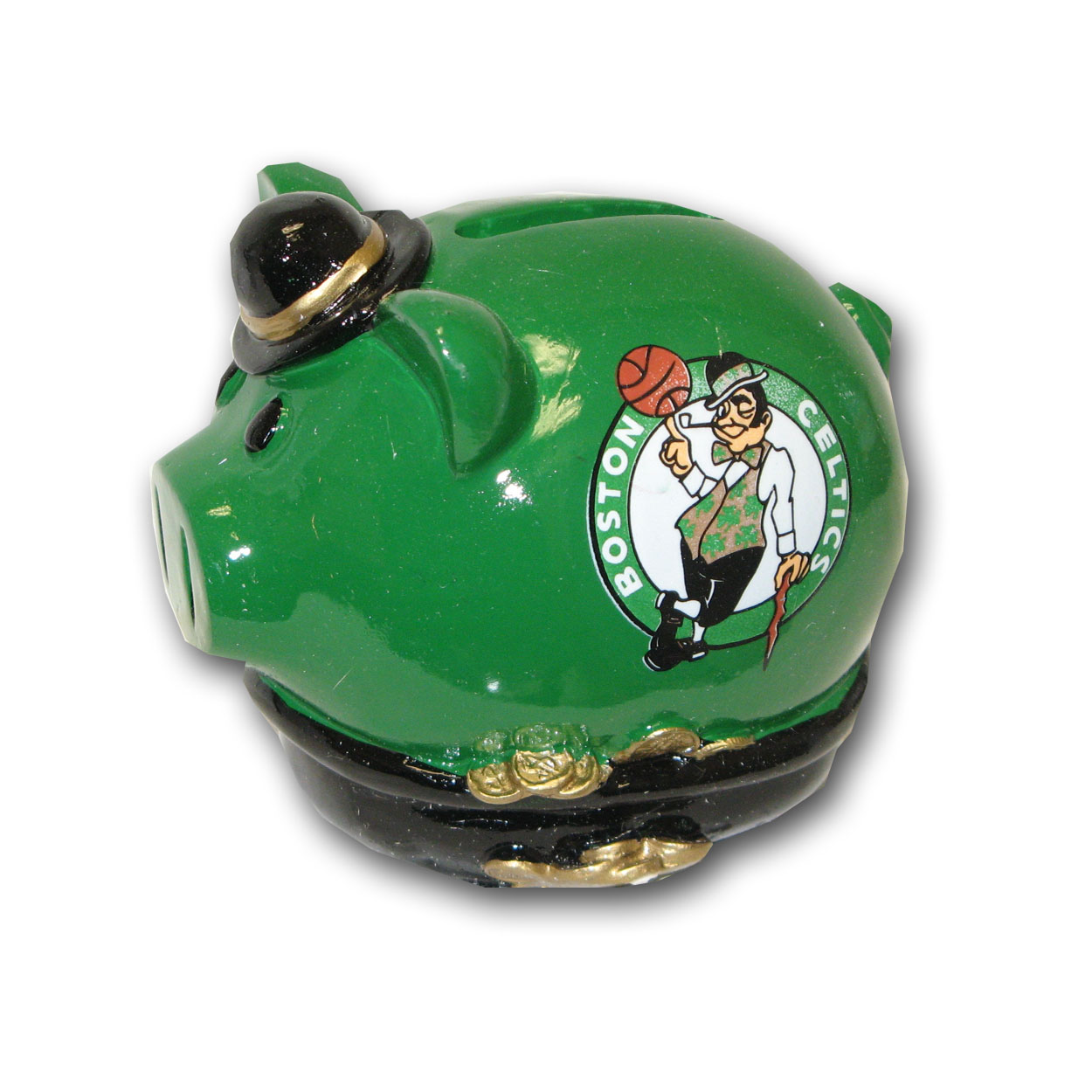 Small Thematic Piggy Bank - NBA Boston Celtics