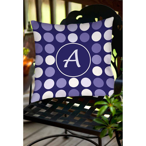 Thumbprintz Dots Monogram Navy Decorative Pillows