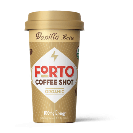 FORTO Coffee Shots - 100mg Caffeine, Vanilla Latte, Colombian cold brew in a ready-to-drink 2-ounce shot for a fast coffee energy boost, 6 pack (Halloween Coffee Drink Ideas)