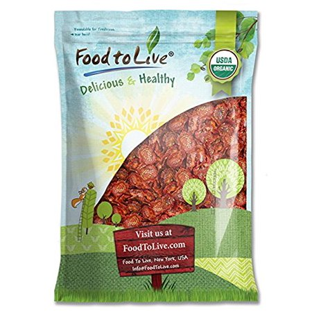 Organic Sun Dried Tomatoes (Organic Sun-Dried Tomatoes, 5 Pounds - Kosher, Non-GMO, Raw, Vegan, Unsulfured, Bulk - by Food to Live)