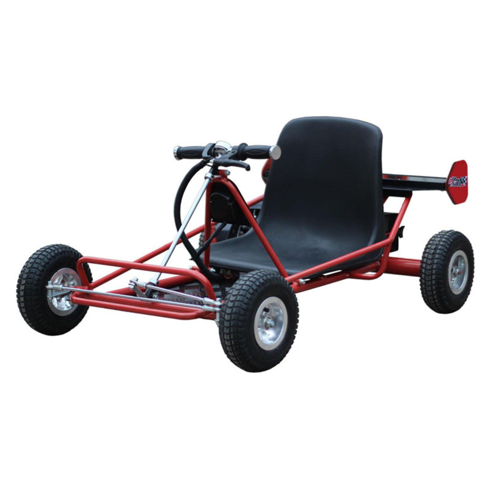 MotoTec Solar Electric 24V Go Kart, Red