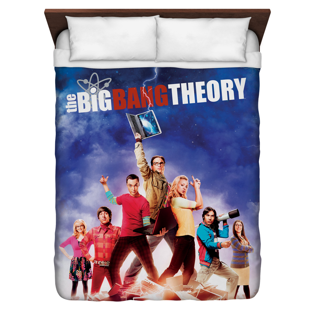Big Bang Theory Poster Queen Duvet Cover White 88X88